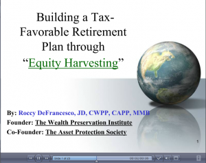 equity-harvesting